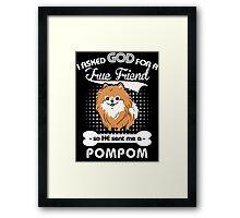 Pomeranian Lover shirt Framed Print