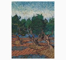 1889-Vincent van Gogh-Olive grove-72,7x92,1 One Piece - Long Sleeve