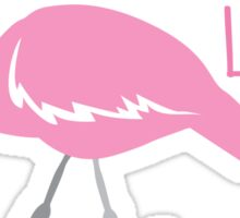 Crazy Flamingo lady Sticker