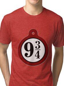 harry potter platform 9 3/4 Tri-blend T-Shirt