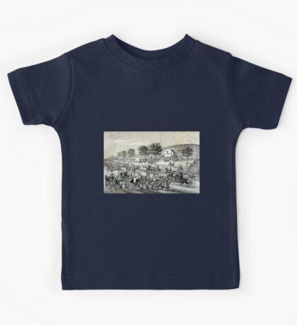 Fast trotters on Harlem Lane NY - 1870 - Currier & Ives Kids Tee