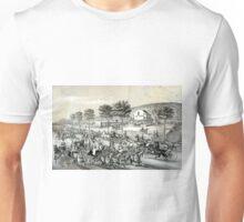 Fast trotters on Harlem Lane NY - 1870 - Currier & Ives Unisex T-Shirt