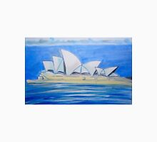 sydney opera house white on blue Unisex T-Shirt