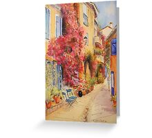 Grimaud village - Provence - France Greeting Card