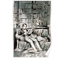 Father and child - 1849 - Currier & Ives Poster