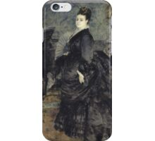 Auguste Renoir - Portrait of a Woman, called of Mme Georges Hartmann 1874 Woman Portrait iPhone Case/Skin