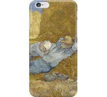 Vincent Van Gogh  Post - Impressionism Oil Painting .The siesta, after Millet, 1890 iPhone Case/Skin