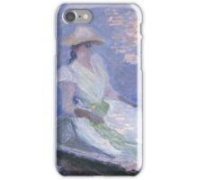 Claude Monet - On the Boat (1887) Impressionism iPhone Case/Skin