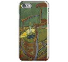Vincent Van Gogh - Gauguin's chair, 1888 iPhone Case/Skin