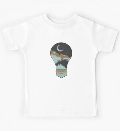 City in a Lightbulb 2 Kids Tee
