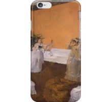 Edgar Degas - The Song Rehearsal ( 1872-1873) iPhone Case/Skin