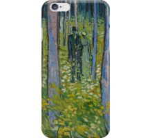 Vincent Van Gogh - Undergrowth with Two Figures, 1890 iPhone Case/Skin