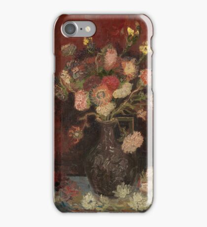 Vincent Van Gogh - Vase with Chinese asters and gladioli, August 1886 - September 1886 iPhone Case/Skin
