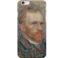 Vincent Van Gogh -  Post- Impressionism Oil Painting , Self-portrait, March 1887 - June 1887 iPhone Case/Skin