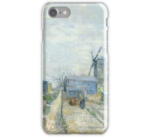 Vincent Van Gogh - Montmartre windmills and allotments, Famous Paintings. Impressionism. Van Gogh iPhone Case/Skin