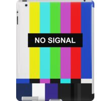 No Signal TV screen iPad Case/Skin