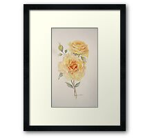 One rose or two Framed Print