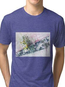The Steel Jungle, Manhattan - Original Wall Modern Abstract Art Painting Original mixed media Tri-blend T-Shirt