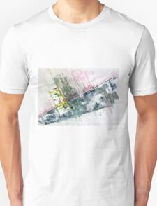 The Steel Jungle, Manhattan - Original Wall Modern Abstract Art Painting Original mixed media Unisex T-Shirt