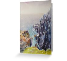 On the edge of the cliff - Scotland Greeting Card