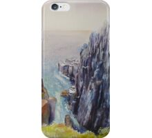 On the edge of the cliff - Scotland iPhone Case/Skin