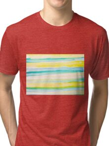 Watercolr Yellow and Blue Horizons Tri-blend T-Shirt