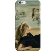 Edouard Manet - On the Beach 1868 iPhone Case/Skin