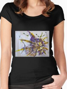 Don't curse the darkness, light a candle - Original mixed media Abstract painting Women's Fitted Scoop T-Shirt
