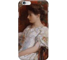 Childe Hassam - The Victorian Chair 1906 American Impressionism Woman Portrait Fashion  iPhone Case/Skin