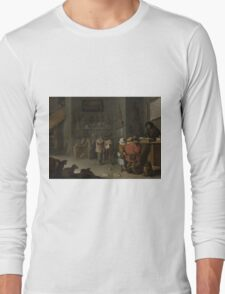 Cornelis Saftleven - Who sues for a cow 1629 Long Sleeve T-Shirt