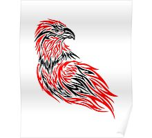 Red and black eagle Poster