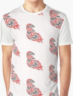 Red and black eagle Graphic T-Shirt