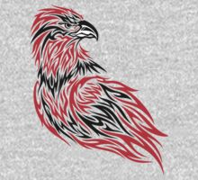Red and black eagle One Piece - Short Sleeve