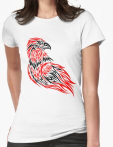 Red and black eagle Womens Fitted T-Shirt