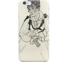 Egon Schiele - Zeichnungen XI 1917 Woman Portrait  iPhone Case/Skin