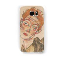 Egon Schiele - Self-Portrait with Striped Armlets 1915  Expressionism  Portrait Samsung Galaxy Case/Skin