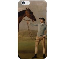 George Stubbs - Molly Long-legs with her Jockey 1761 - 1762 iPhone Case/Skin