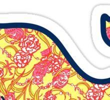 Chi Omega Whale Sticker