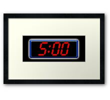 Digital Clock 5:00, 5, Five, Fifth, Time, Cool, Retro, Old School, Framed Print
