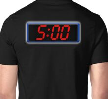 Digital Clock 5:00, 5, Five, Fifth, Time, Cool, Retro, Old School, Unisex T-Shirt