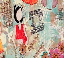 Mixed Media Wash Day # julie nutting paper dolls. Sticker
