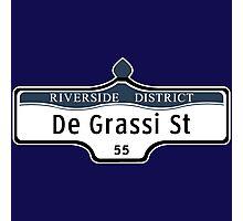 DeGrassi Street Sign, Riverside District, Toronto, Canada Photographic Print