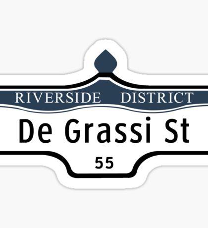 DeGrassi Street Sign, Riverside District, Toronto, Canada Sticker