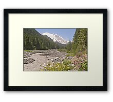 Mount Rainier from White River Campground Trail Framed Print
