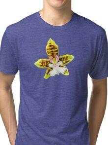 Orchid flower Oncidium Leucochilum Tri-blend T-Shirt