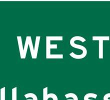 Tallahassee, FL Road Sign, USA Sticker