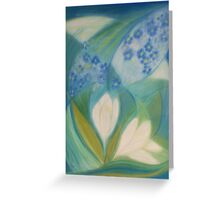 January Blossoms Greeting Card