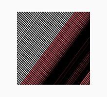 Modern Red White and Black Stripes Pattern Unisex T-Shirt