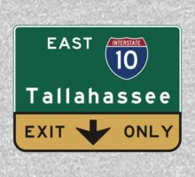 Tallahassee I10, FL Road Sign, USA Kids Tee