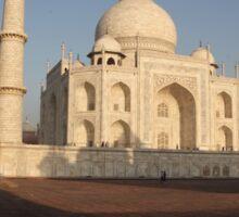 The Taj Mahal as the sun rises. Sticker